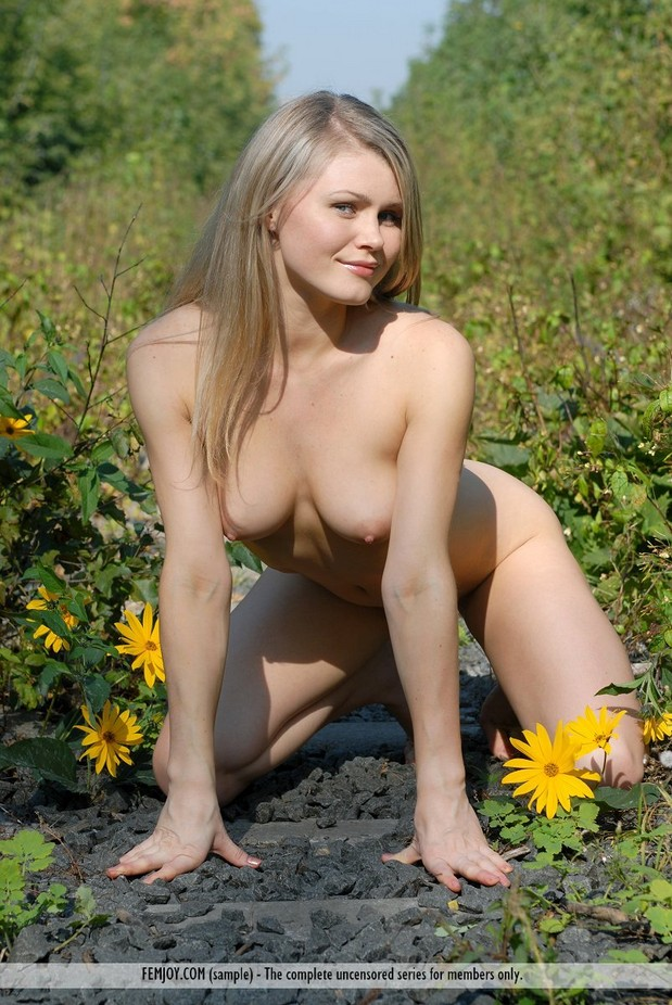 naked woman on knees