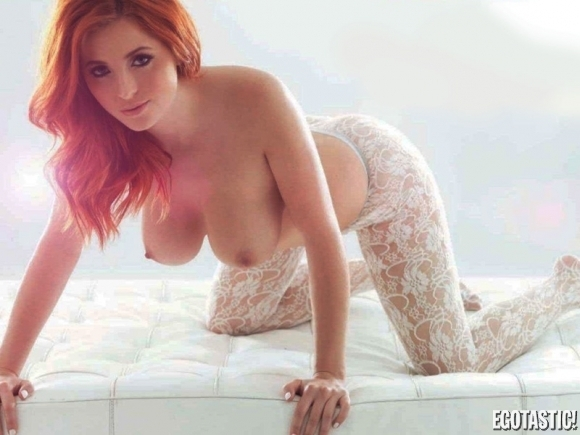 red head in lace; Babe Big Tits Red Head