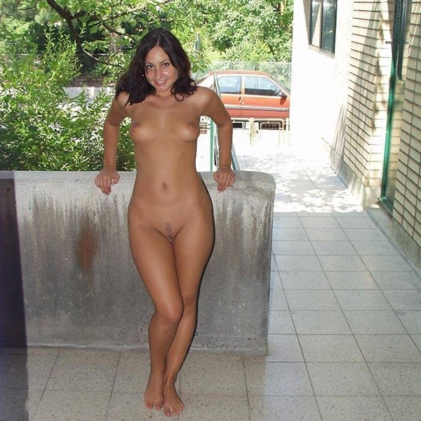 Naked girl public properties turns