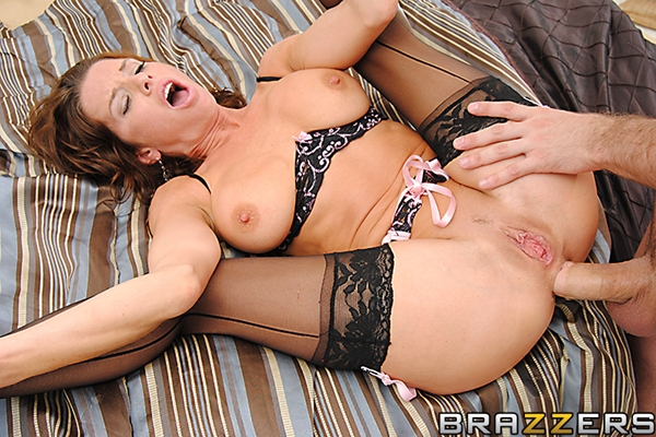 Big black cock in white milf