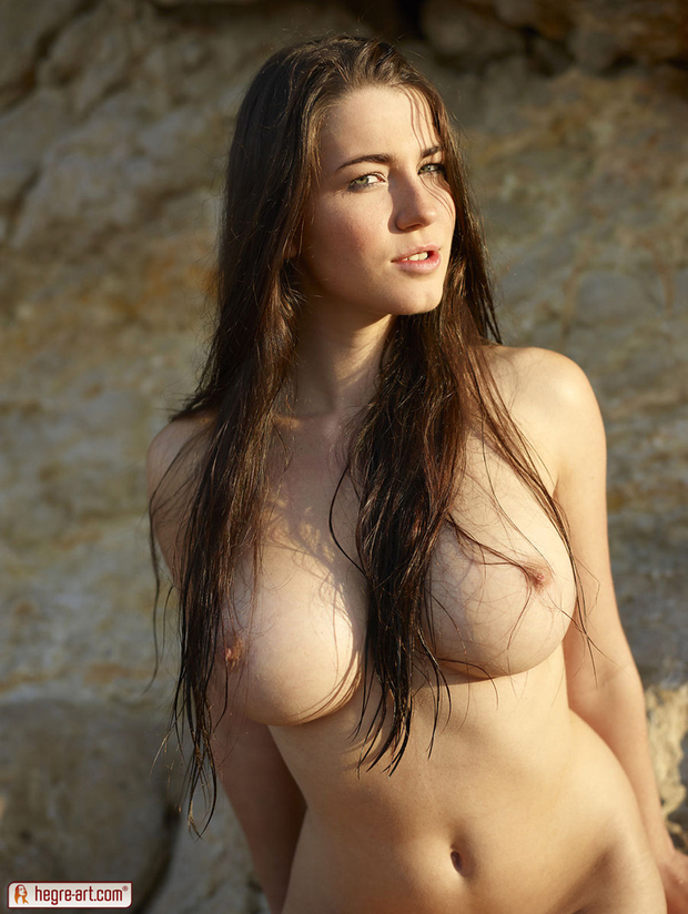 Whole boob brunette hot