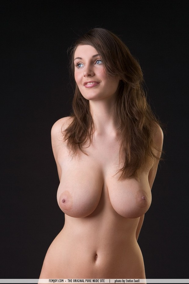 Not Brunette big natural boobs