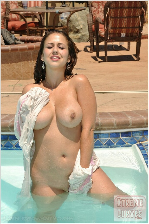 Big tits pool nudity