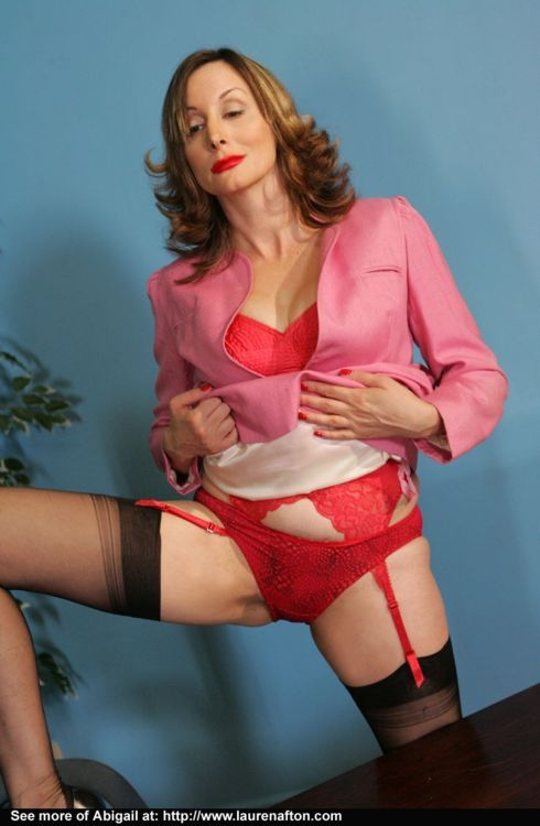 Mature secretaries in panties