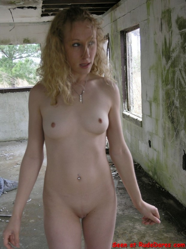 Girl public nude dare