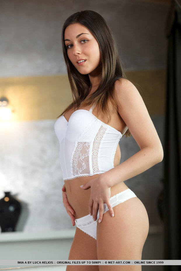 White lingerie; Babe Hot Lingerie Teen