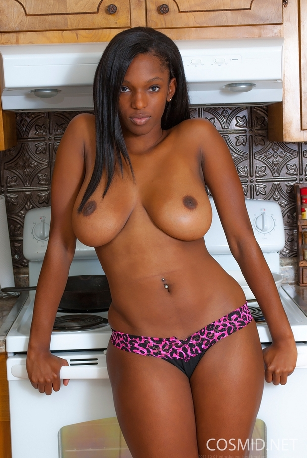 Seems excellent Black chick with big tits