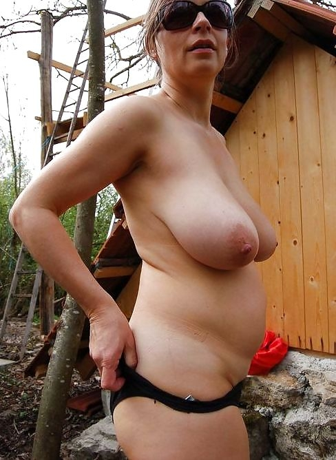 Breast naked natural view