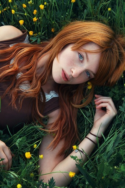 ...; Non Nude Red Head Teen