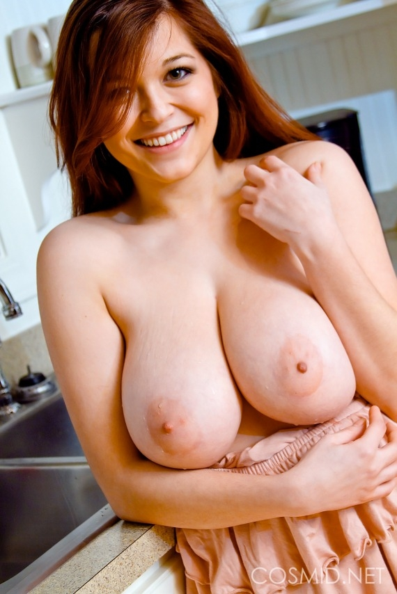 Red hair and big tits