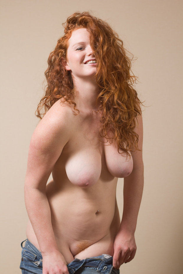 Redhead with nice big tits
