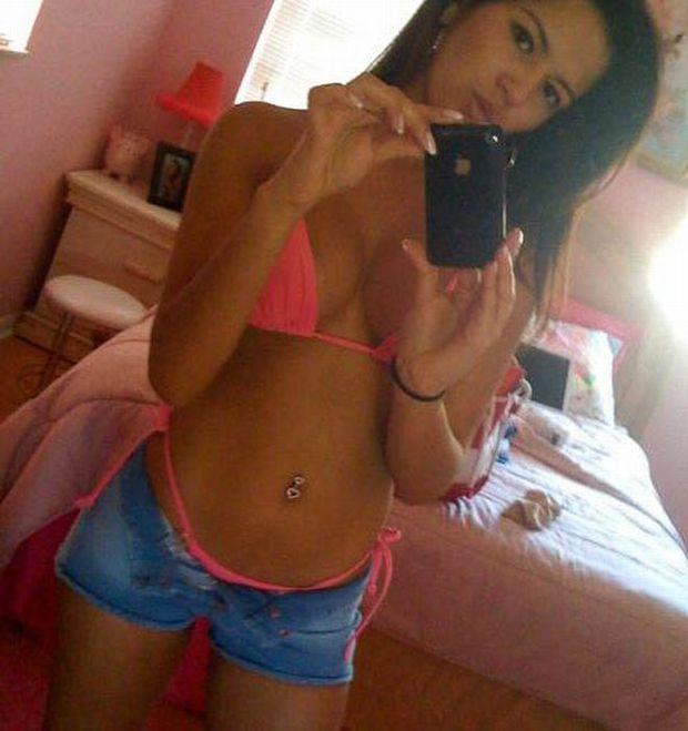 Young asian teen girls in bikinis