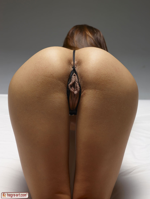Big ass in a g string