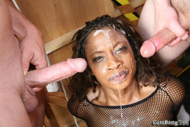 фото лица негритянок в сперме